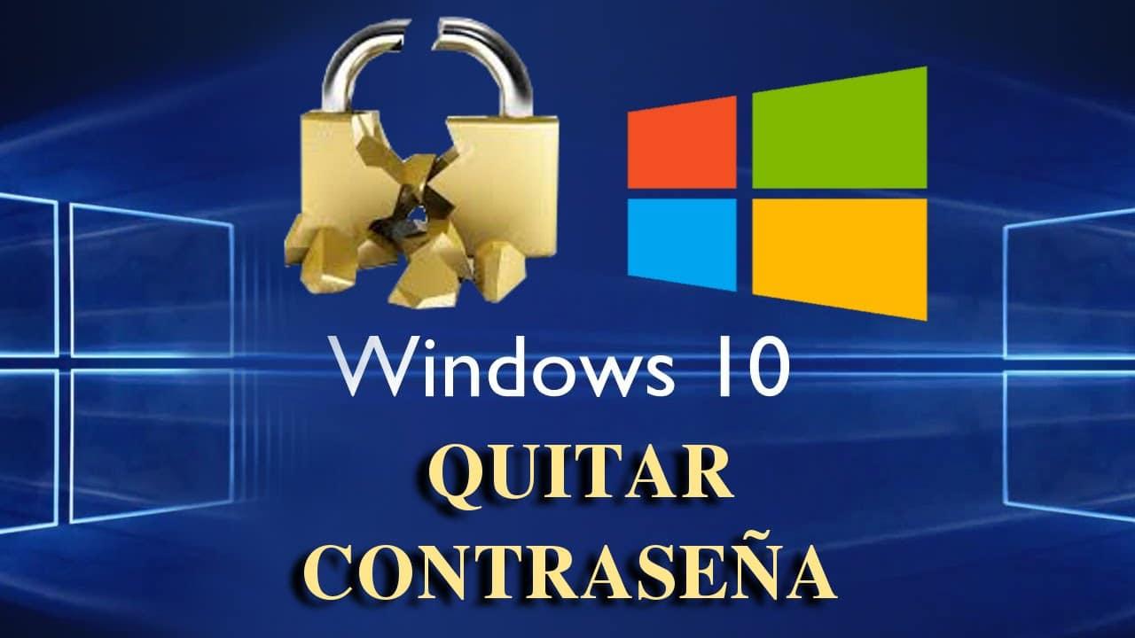 como eliminar la contraseña en windows 10